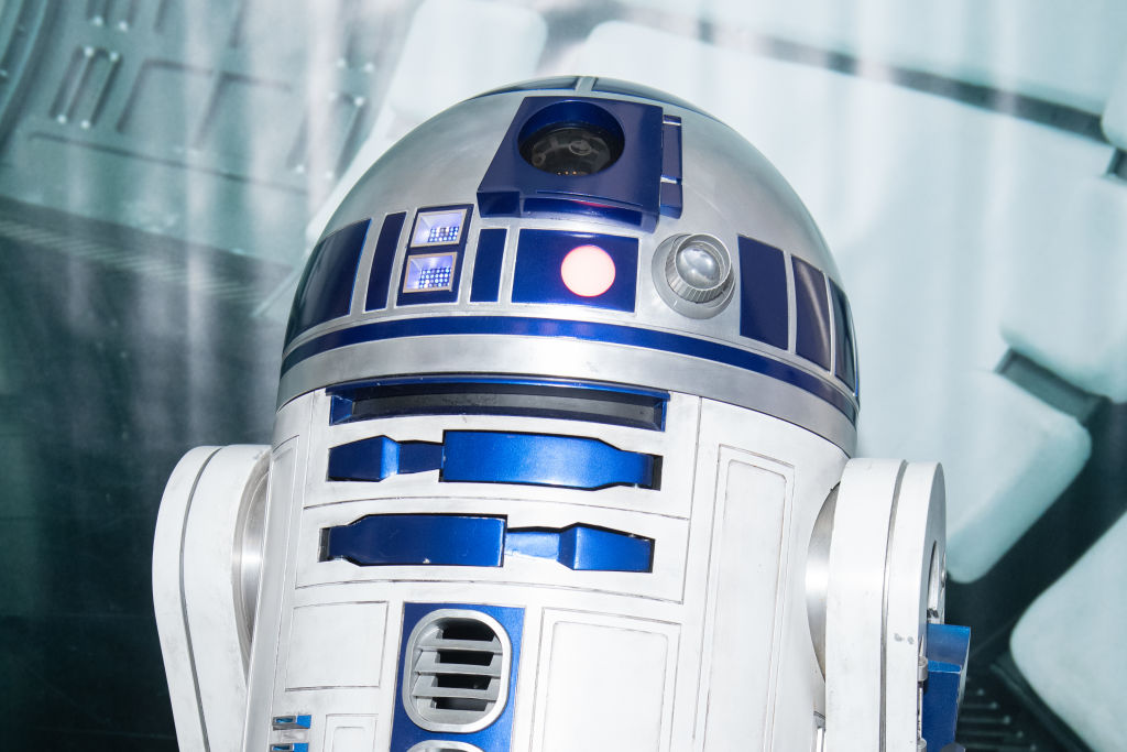 R2-D2 at the SiriusXM Studios to promote 'Star Wars: The Rise of Skywalker' on March 10, 2020.