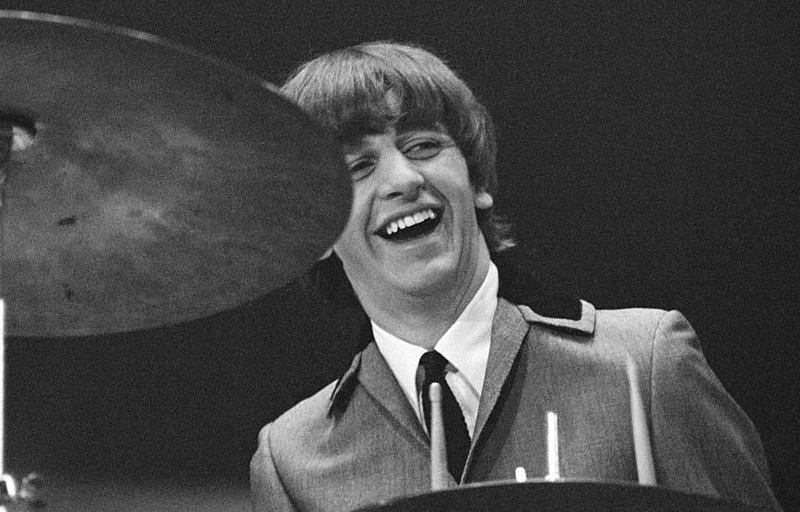 Ringo Starr performing in 1964