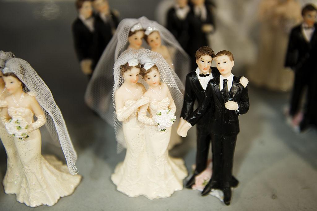Same-sex wedding cake toppers