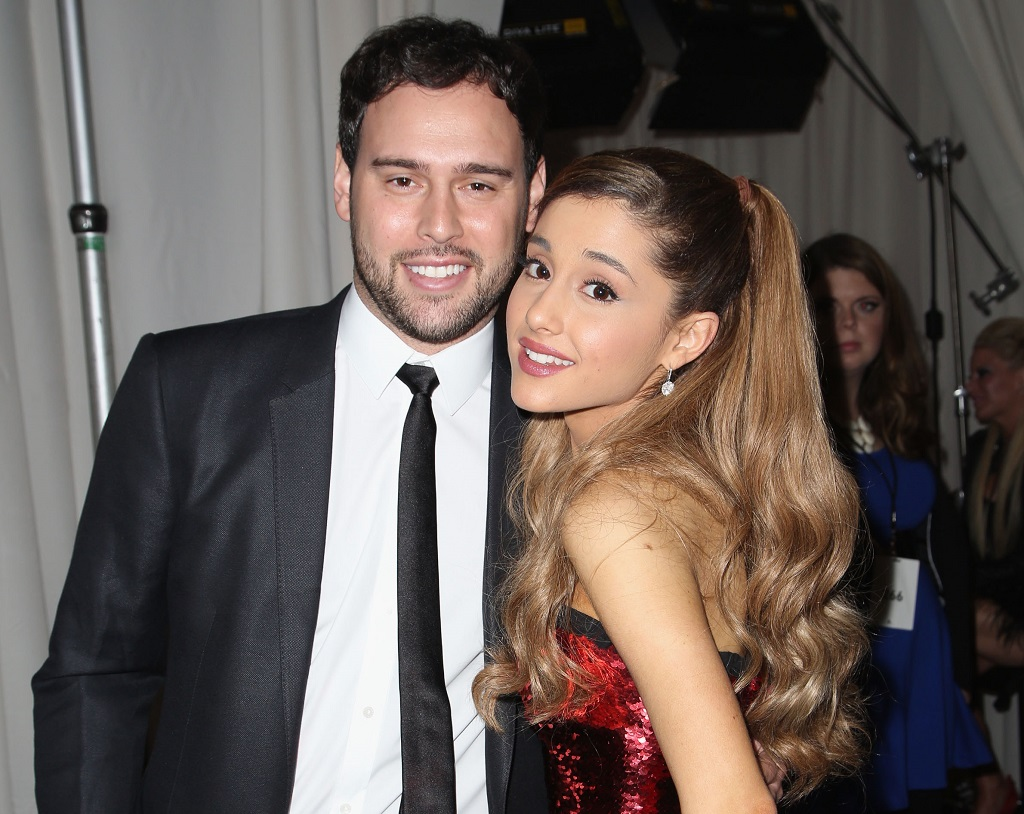 Scooter Braun and Ariana Grande at the 2013 American Music Awards on November 24, 2013.