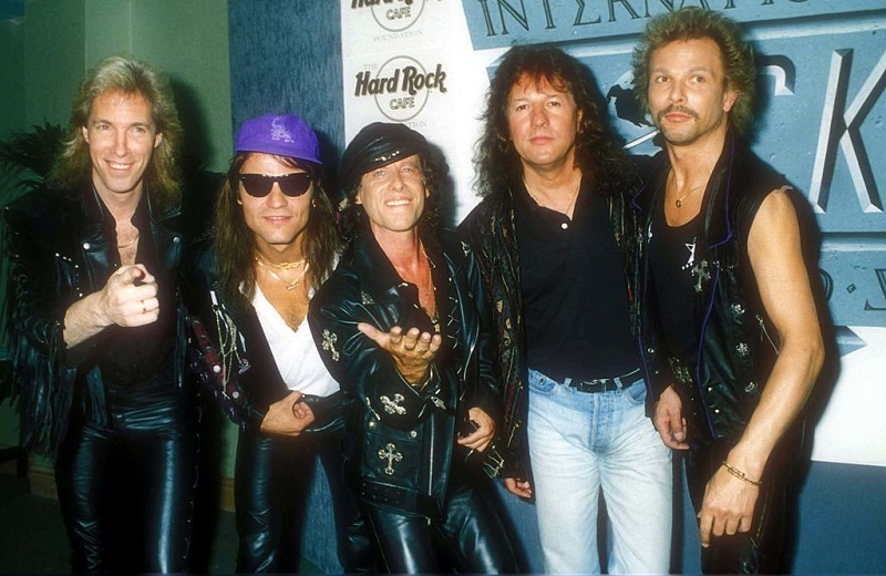 Scorpions band posing circa 1991