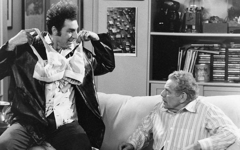 Kramer models the 'bro' for Frank Costanza