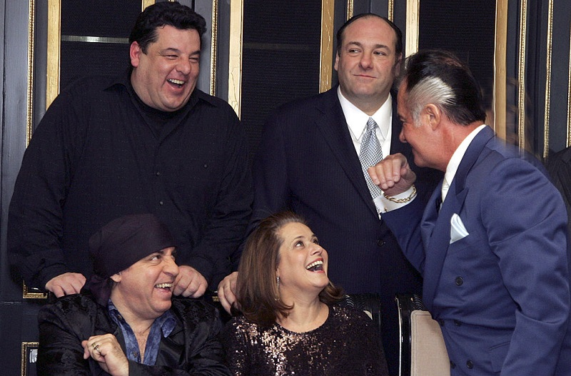The cast of 'The Sopranos' has a laugh