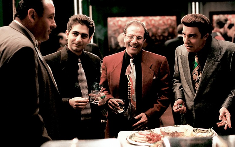 'Sopranos' characters wearing suits