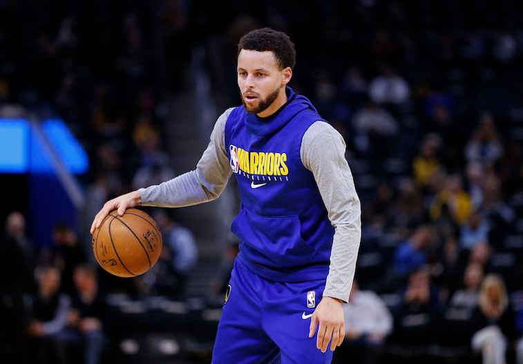 Stephen Curry playing basketball