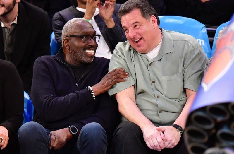Steve Schirripa and Earl Monroe share a laugh