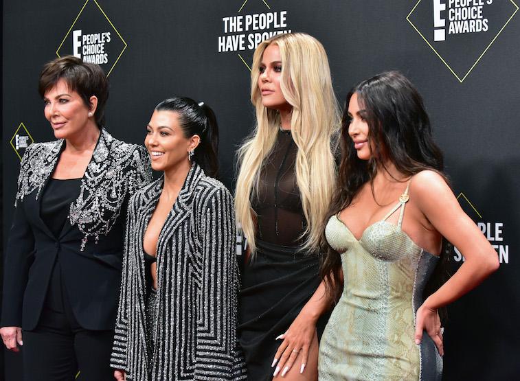 Kris Jenner, Kourtney Kardashian, Khloe Kardashian, and Kim Kardashian West