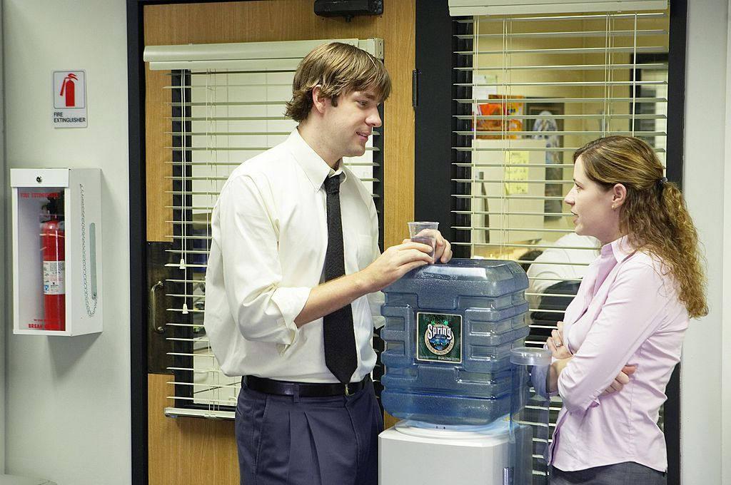 John Krasinski and Jenna Fischer on 'The Office'