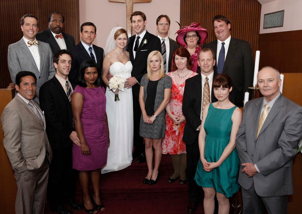 The cast of The Office, Season 6 Wedding episode Niagara