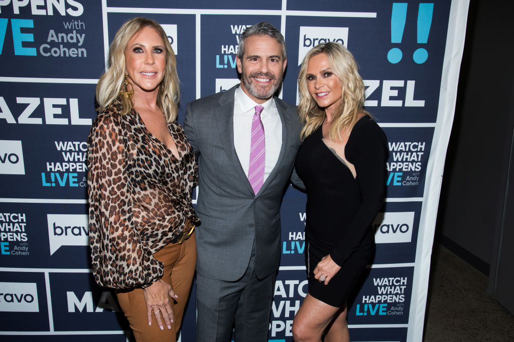 Vicki Gunvalson, Andy Cohen, and Tamra Judge