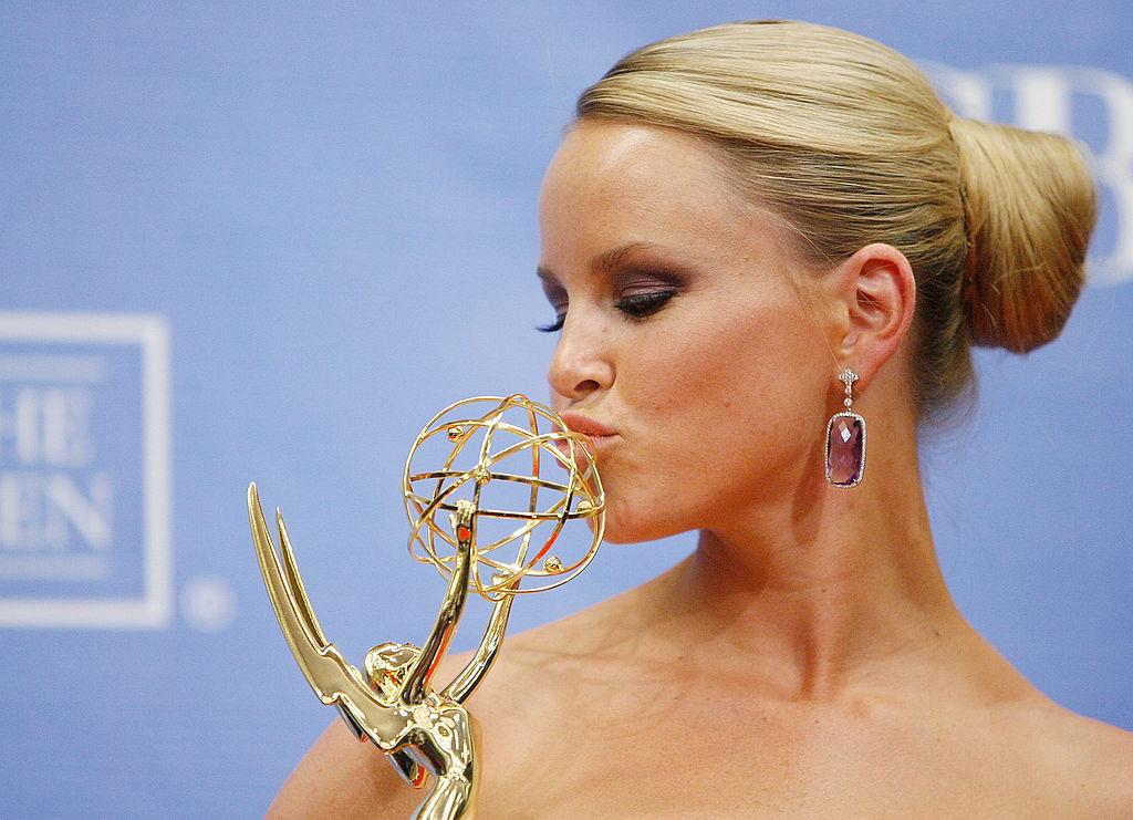 Julie Berman poses with her Daytime Emmy award