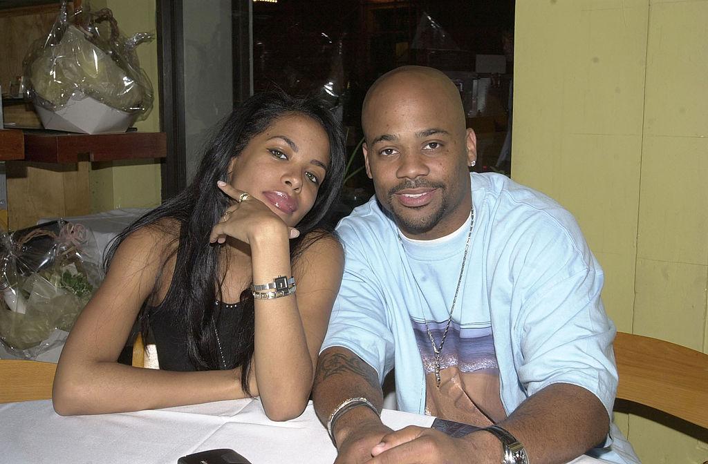 Aaliyah and Damon Dash in May 2001