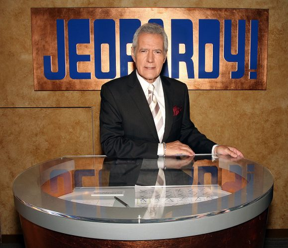 Alex Trebek attends the 'Jeopardy!' Season 28 premiere