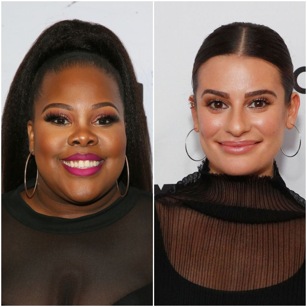 Amber Riley and Lea Michele