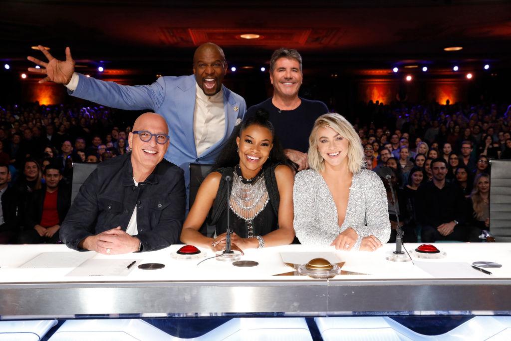 Howie Mandel, Terry Crews, Gabrielle Union, Simon Cowell, Julianne Hough on 'America's Got Talent'