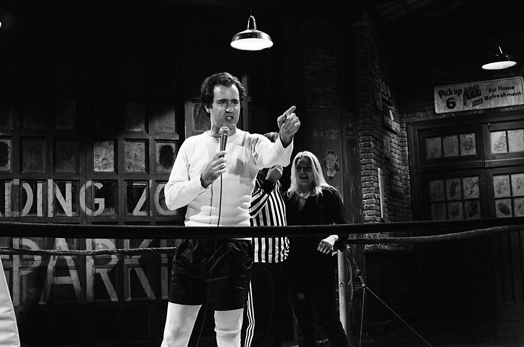 Andy Kaufman and Bob Zmuda on October 20, 1979