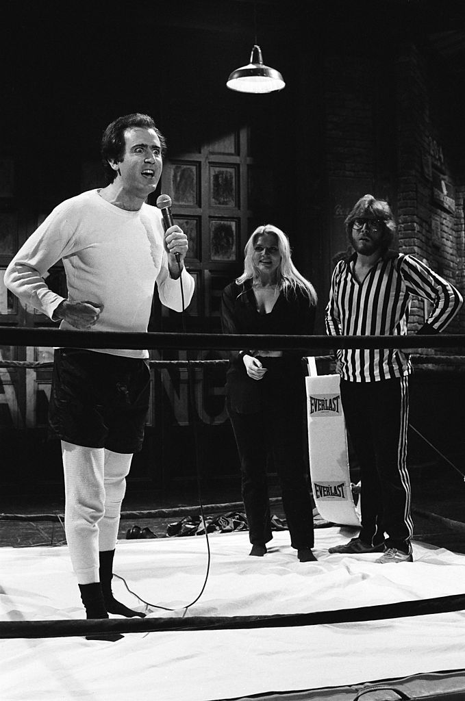 Andy Kaufman and Bob Zmuda on October 20, 1979
