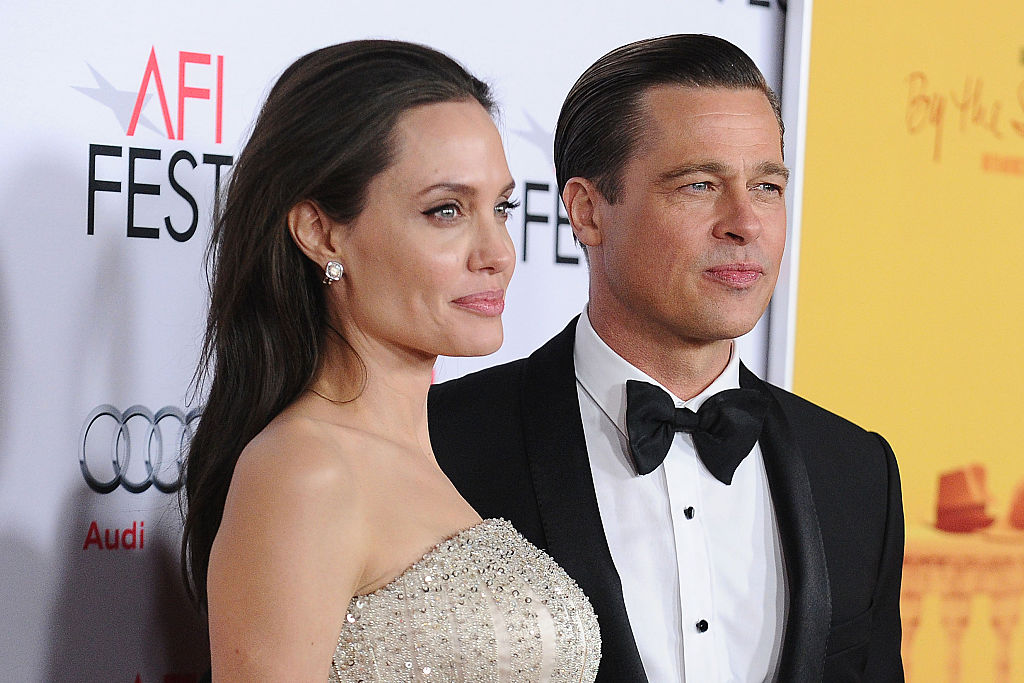 Angelina Jolie and Brad Pitt attend the premiere of 'By the Sea' at the 2015 AFI Fest