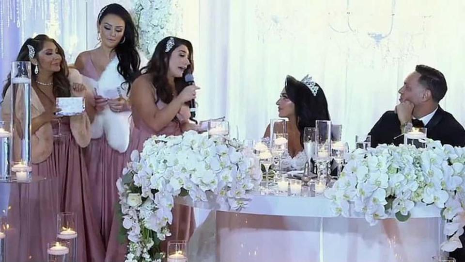 Angelina wedding speech 'Jersey Shore: Family Vacation'