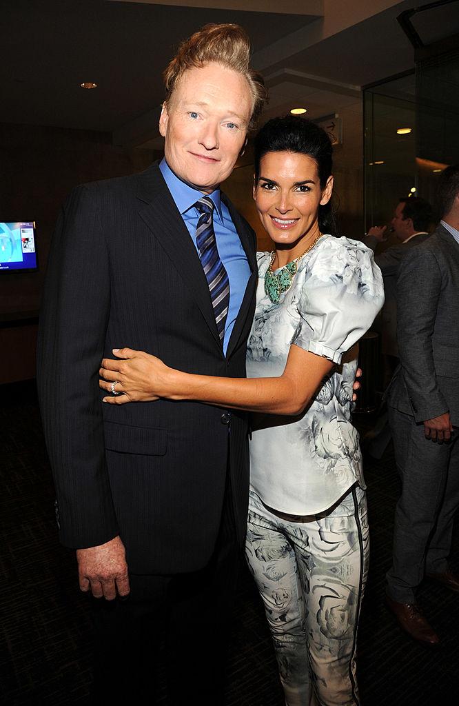 Angie Harmon and Conan O'Brien