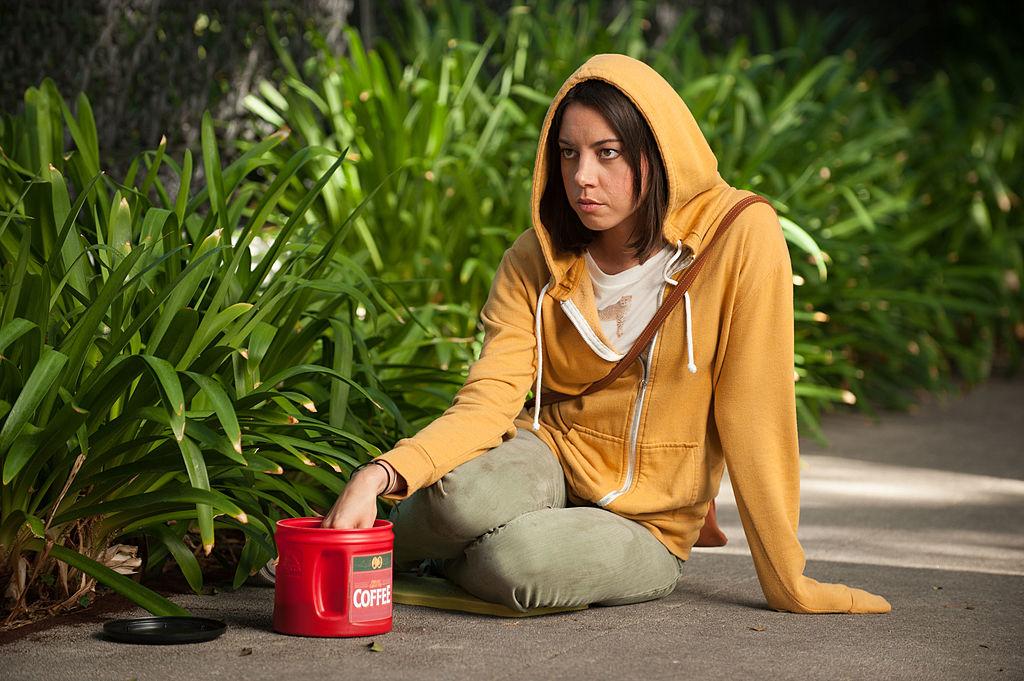 Parks and Rec cast memeber Aubrey Plaza as April Ludgate