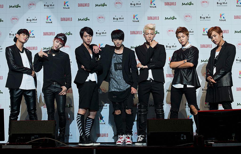V, SUGA, Jin, Jungkook, RM, Jimin, J-Hope of BTS