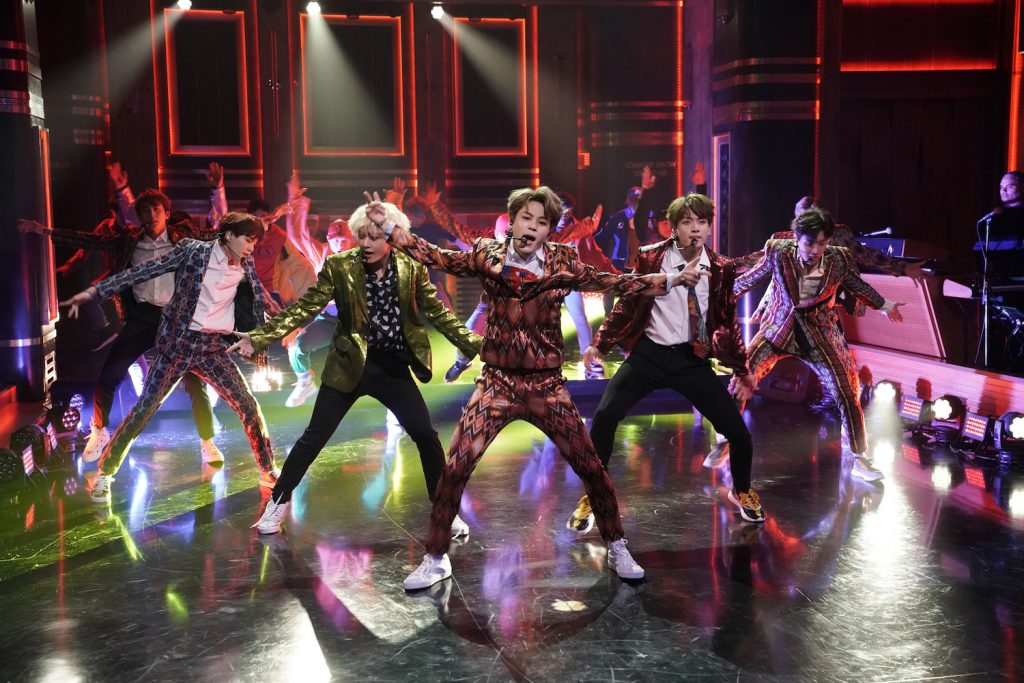 BTS performers on 'The Tonight Show Starring Jimmy Fallon'