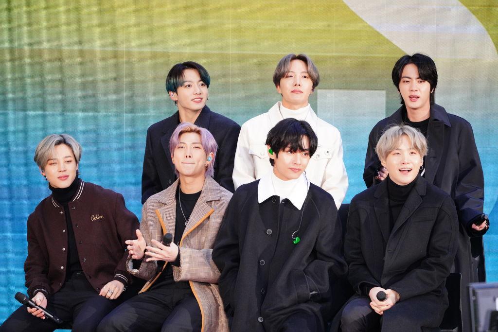 J-Hope, SUGA, Jungkook, Jimin, RM, V and Jin of the K-pop band BTS