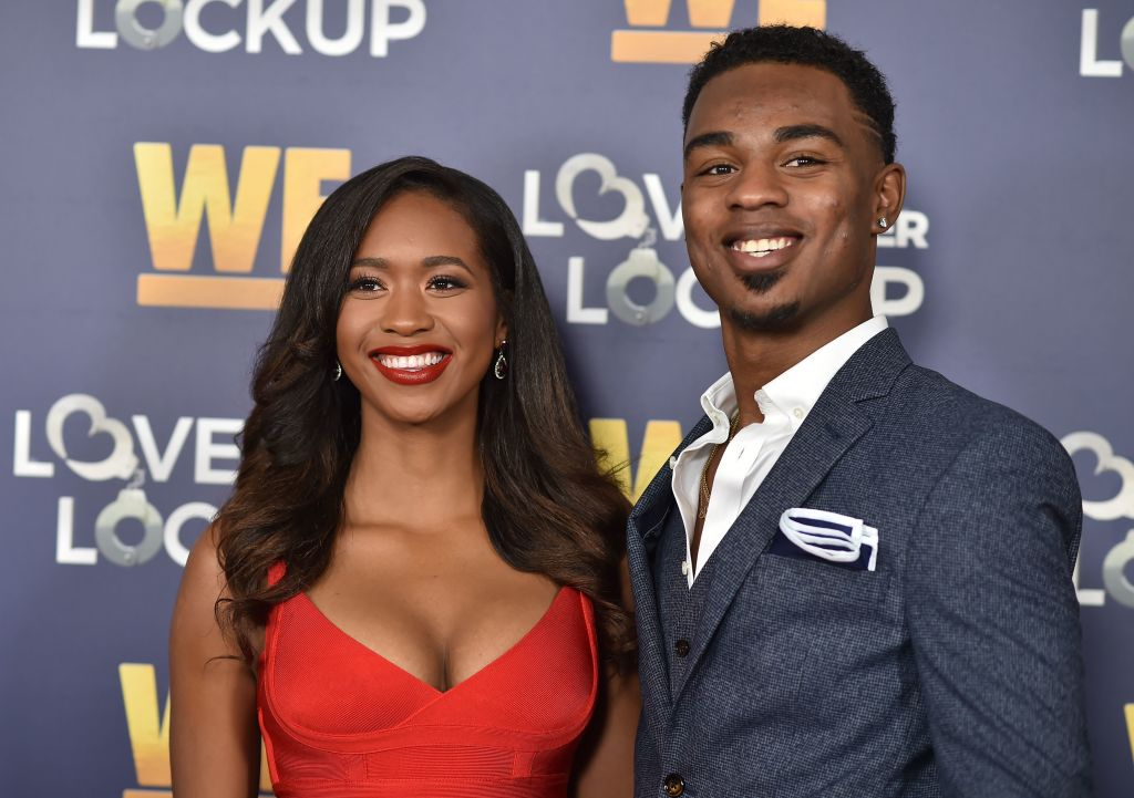 Chris 'Swaggy C' Williams and Bayleigh Dayton arrive for WE tv