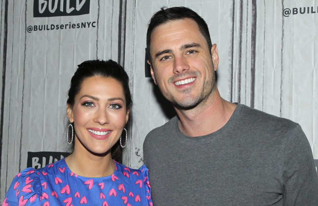 """Becca Kufrin and Ben Higgins attend the Build Series to discuss """"The Bachelor Live On Stage"""" Tour at Build Studio on January 29, 2020 in New York City."""