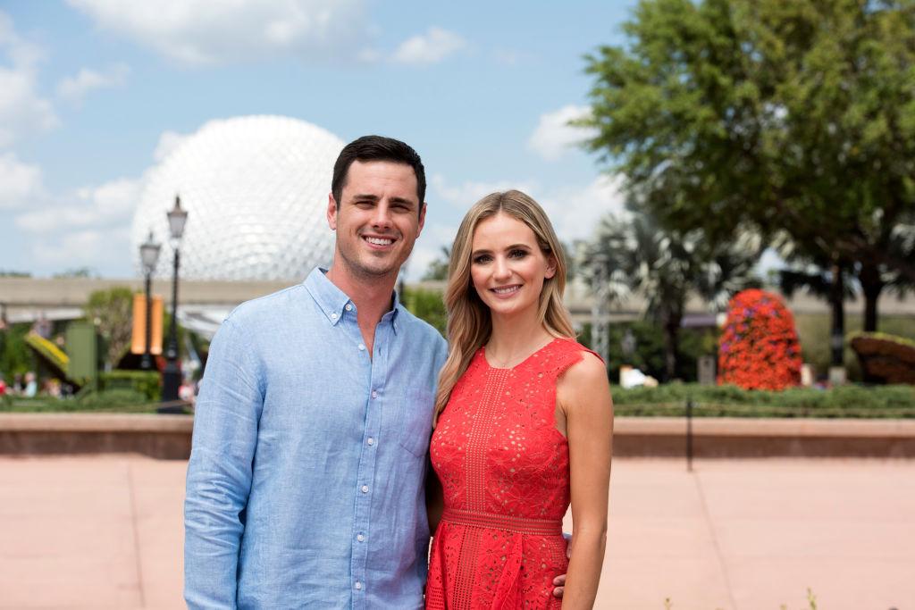 "Bachelor alumni Ben Higgins and Lauren Bushnell at Freeform's ""Disney's Fairy Tale Weddings"""