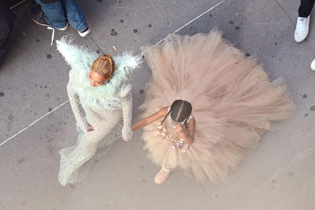 Beyoncé and Blue Ivy Carter attend the 2016 MTV Video Music Awards