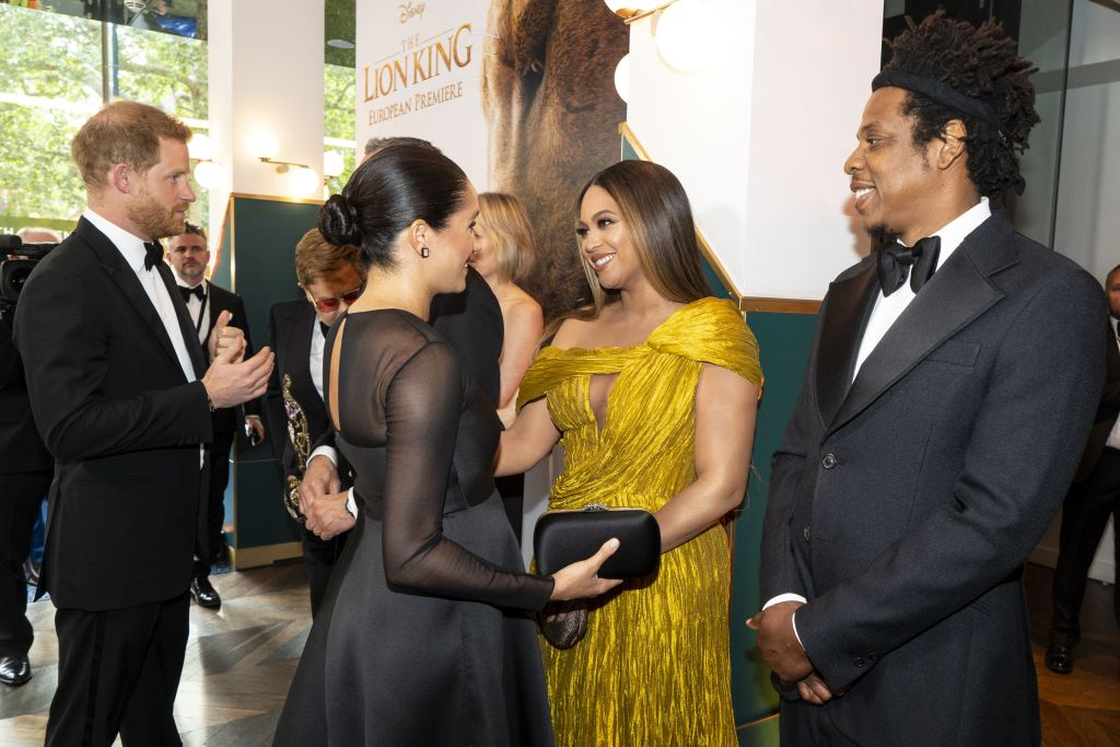 Britain's Prince Harry, Duke of Sussex and Britain's Meghan, Duchess of Sussex meet Beyoncé and Jay-Z