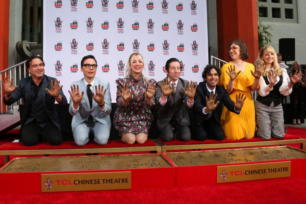Big Bang Theory cast handprints