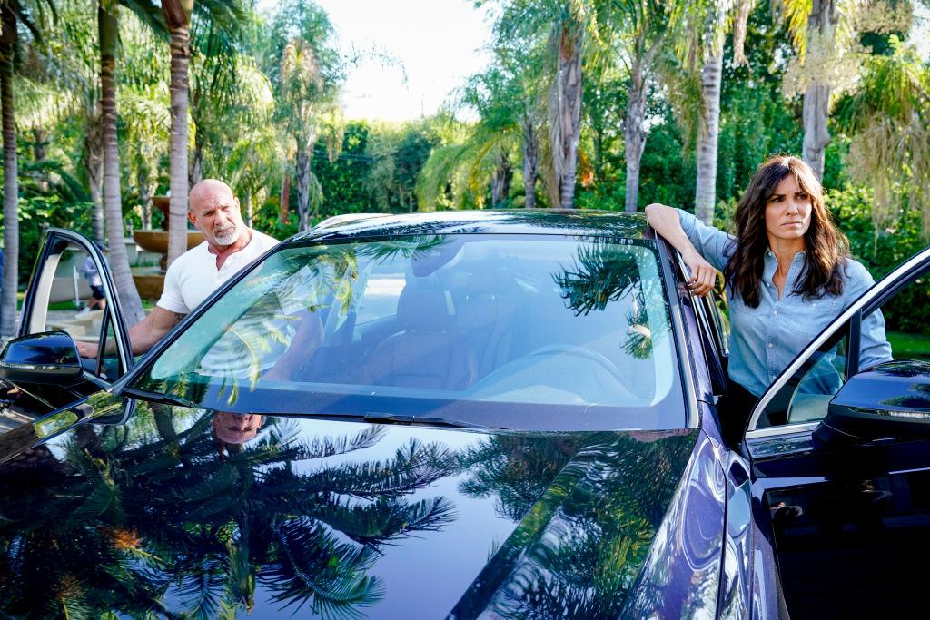 Bill Goldberg and Daniela Ruah   Cliff Lipson/CBS via Getty Images