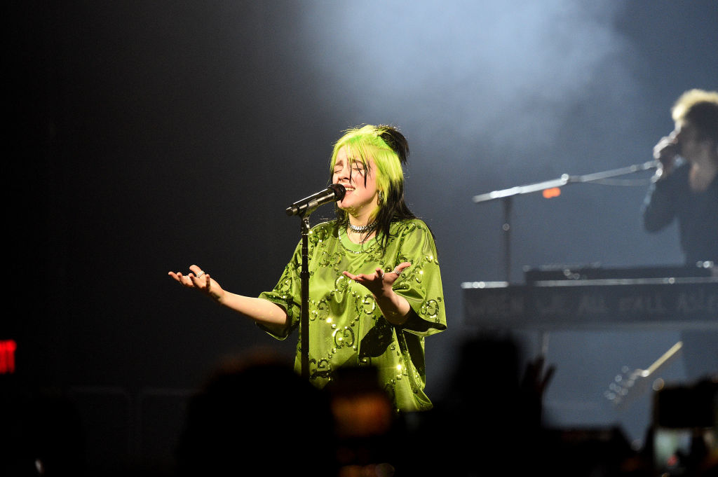 Billie Eilish performs live on stage at Billie Eilish 'Where Do We Go?' World Tour Kick Off