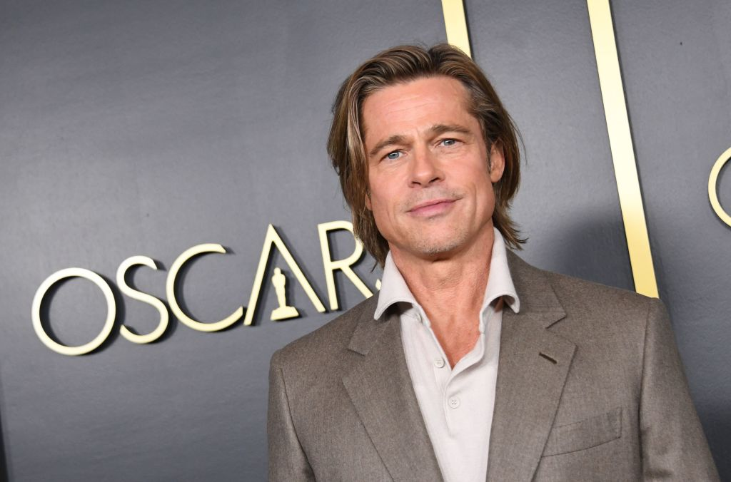 Brad Pitt arrives for the 2020 Oscars Nominees Luncheon at the Dolby theatre