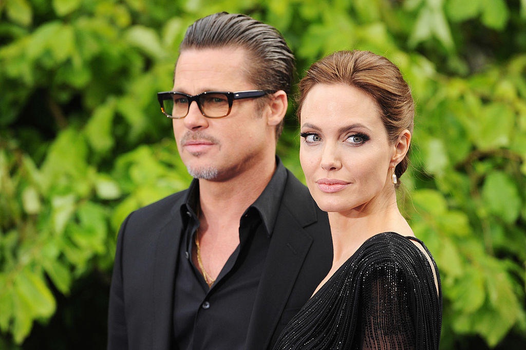 Brad Pitt and Angelina Jolie at an event