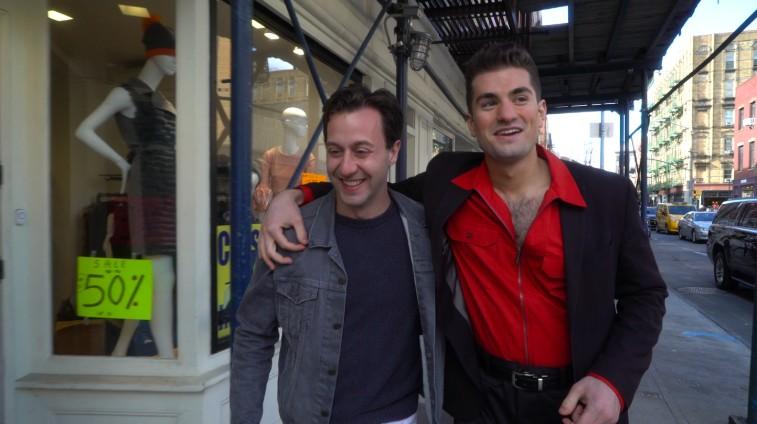 Brian Alevis and Greg Contaldi on the set of Bromance | Art City