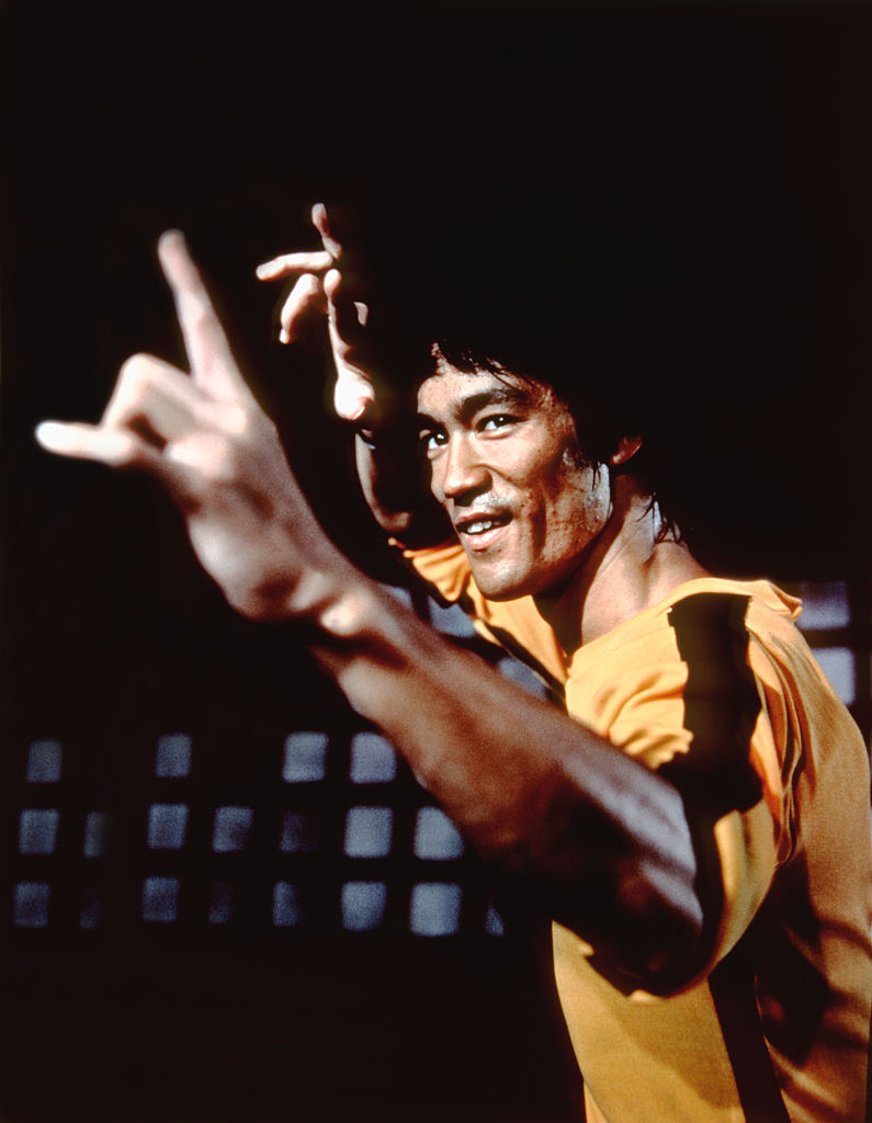 Bruce Lee yellow track suit