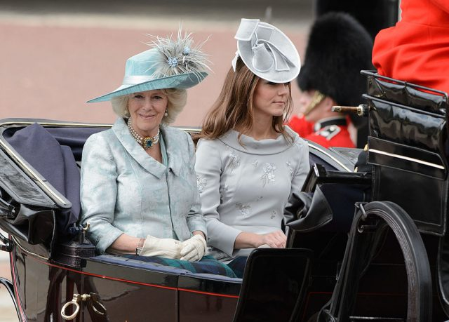 Camilla Parker Bowles and Kate Middleton at 2012 Trooping the Colour