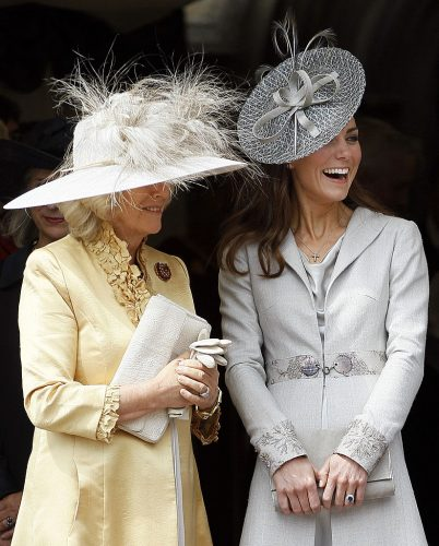 Camilla Parker Bowles and Kate Middleton attend 2011 Garter Service