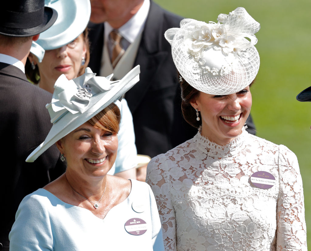 Catherine, Duchess of Cambridge and her mother Carole Middleton attend day 1 of Royal Ascot at Ascot Racecourse on June 20, 2017 in Ascot, England