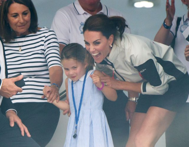 Carole Middleton, Kate Middleton, and Princess Charlotte at The King's Cup Regatta