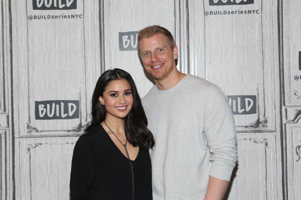 """Catherine Lowe and Sean Lowe from 'The Bachelor' Season 17 attend Build Series to discuss """"Worst Cooks In America"""" at Build Studio on October 4, 2017 in New York City."""