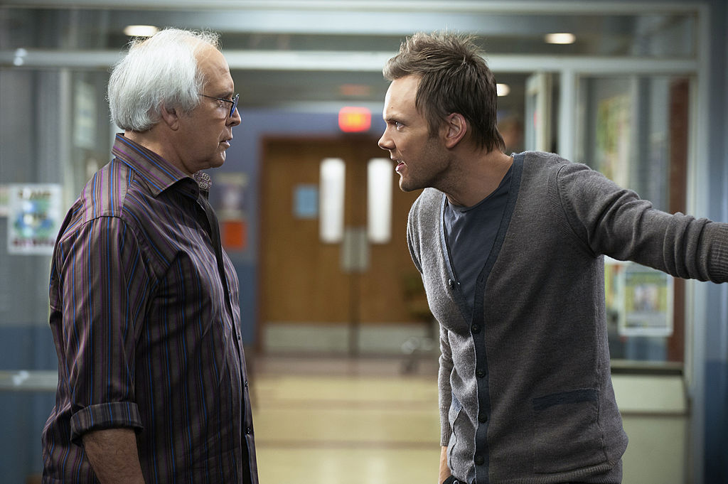 Chevy Chase and Joel McHale in Community