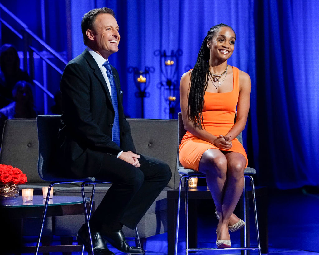 "Chris Harrison and Rachel Lindsay on ABC's ""The Bachelor"" - Season 24"