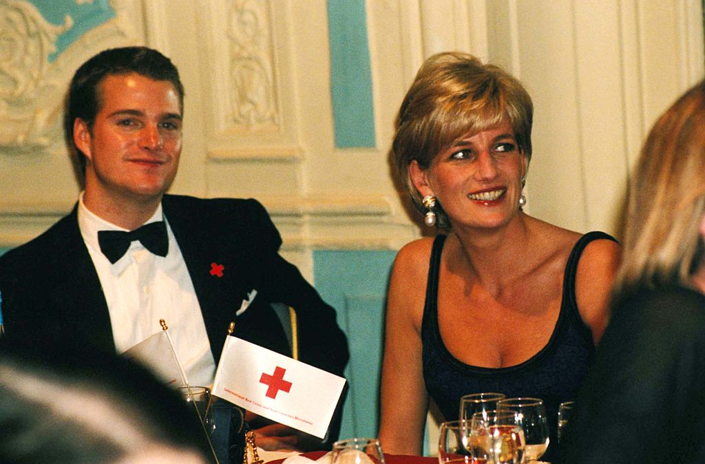 Chris O'Donnell with Princess Diana in 1997 | Dave Benett/Getty Images