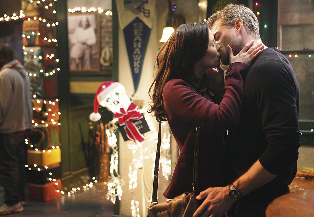 "Chyler Leigh as Lexxie Grey and Eric Dane as Mark Sloan on ABC's ""Grey's Anatomy"" - Season Seven"