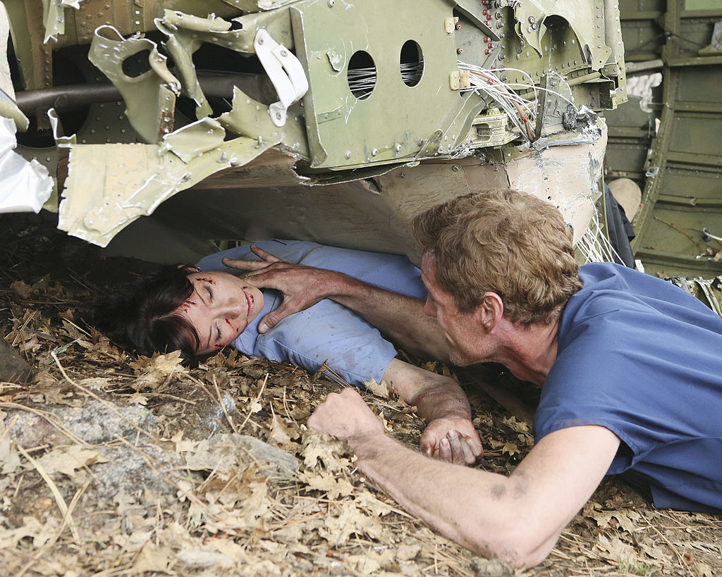 "Chyler Leigh and Eric Dane as Lexie Grey and Mark Sloan on ABC's ""Grey's Anatomy"" - Season Eight"